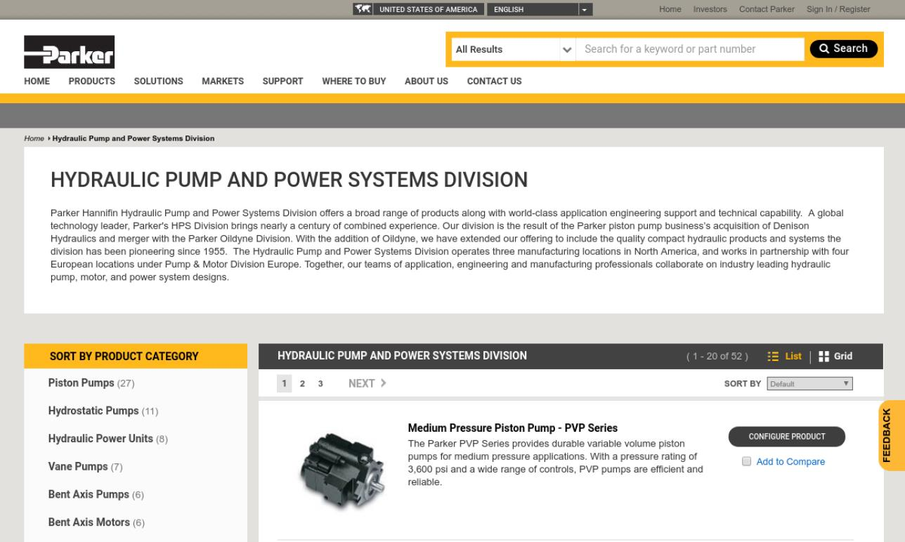 Parker Hannifin Hydraulic Pump & Motor Div.